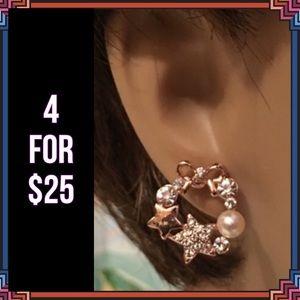 Jewelry - 4 FOR $25 🎁🎄🍾🥂 Star Wreath Earrings